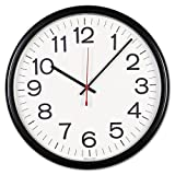 Universal Products - Universal - Indoor/Outdoor Clock, 13-1/2in, Black - Sold As 1 Each - Shatter- and weather-resistant case, lens and dial. - Built to handle elements of nature. - Energy-efficient.