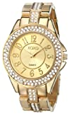XOXO Womens XO5465 Rhinestone-Accented Gold-Tone Bracelet Watch