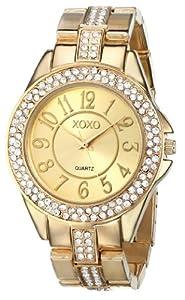XOXO Women's XO5465 Rhinestone-Accented Gold-Tone Bracelet Watch