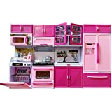 Modern Kitchen Gift Battery Operated Toy With 4 Compartments Kitchen Dolls Play Set Girls New