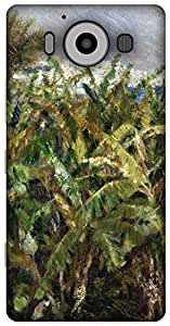 The Racoon Grip Field of Banana Trees hard plastic printed back case / cover for Microsoft Lumia 950