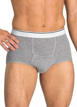 Jockey Men's Underwear Pouch Brief - 3 Pack, black, M