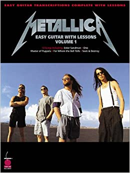 metallica for easy guitar with lessons vol 1 guitar book 9780895249234. Black Bedroom Furniture Sets. Home Design Ideas