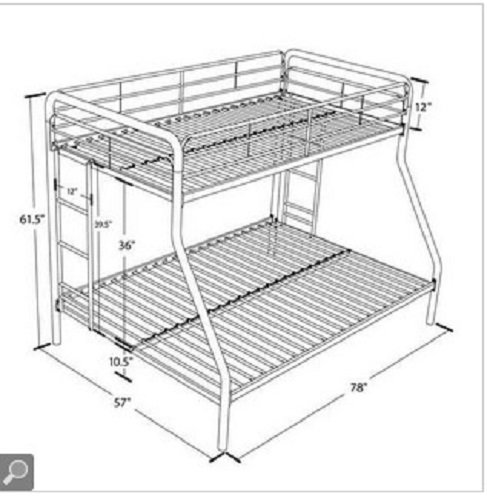Sturdy Kids Sturdy Twin Over Full Metal Bunk Bed With Stairs This