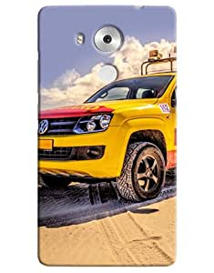 Omnam Volkswagen Yellow Mustang Printed Designer Back Cover Case For Huawei Honor Mate 8