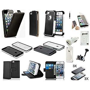 lot de 19 accessoires pour iphone 5s apple housse coque chargeur support cable