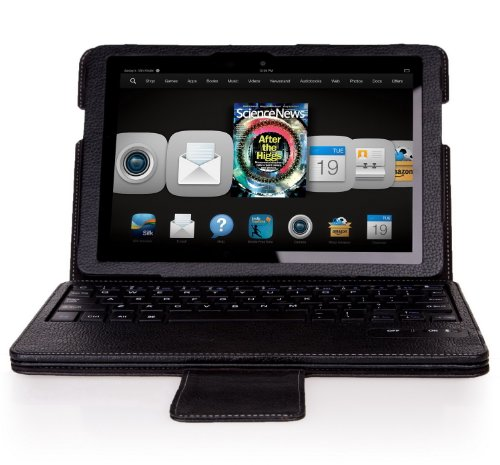 """Ivso Keybook Bluetooth Keyboard Case For Kindle Fire Hdx 8.9"""" Tablet - Will Only Fit Kindle Fire Hdx 8.9"""" (Black)"""