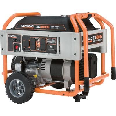Generac: Portable Generator 10,000 Surge Watts, 8000 Rated Watts, 410c