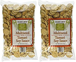 Trader Joe39s Multiseed with Soy Sauce Rice Crackers Pack of 2