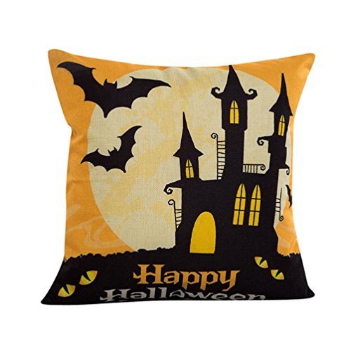 Review Creazy® 2016 Halloween Sofa Bed Home Decor Pillow Case Cushion Cover (C)