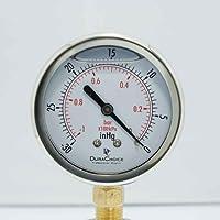 "vacuum gauge, DuraChoice, 2"" Oil Filled Vacuum Gauge, 1/4"" NPT, SS/Br - 30Hg - 0PSI"