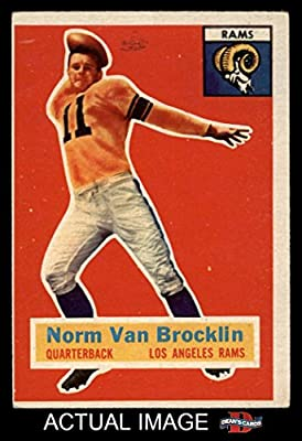 1956 Topps # 6 Norm Van Brocklin Los Angeles Rams (Football Card) Dean's Cards 4 - VG/EX