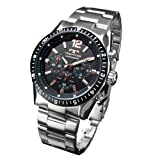 [テクノス]腕時計 メンズ メンズ腕時計 TECHNOS クロノグラフ テクノス 黒 ブラック T1019TH