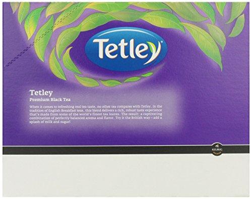 Tetley Decaffeinated Black Tea K-Cup Portion Pack For Keurig Brewers, British Blend, 96 Count