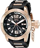 Invicta Men's 12965 I-Force Black Textured Dial Black Polyurethane Watch