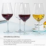 MICHLEY-Unbreakable-Wine-Glasses-100-Tritan-Shatterproof-Red-Wine-Glasses-BPA-free-Dishwasher-safe-185-oz