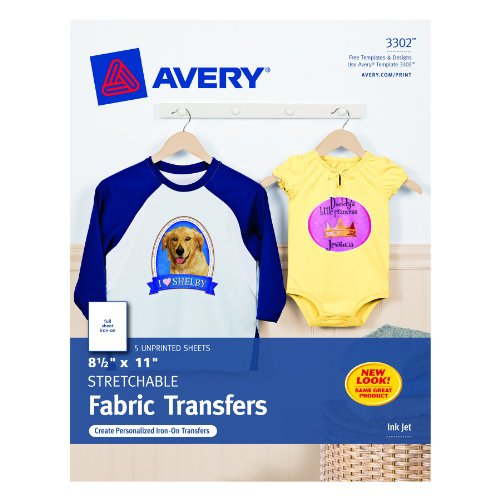 avery stretchable fabric transfer instructions
