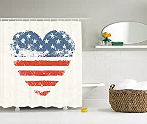 Decorations hearts american usa flag heart Stars and stripes home decor