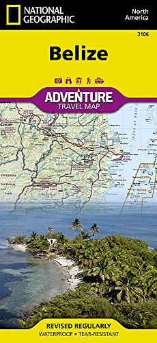 Belize (National Geographic Adventure Map) (Map Central South America compare prices)