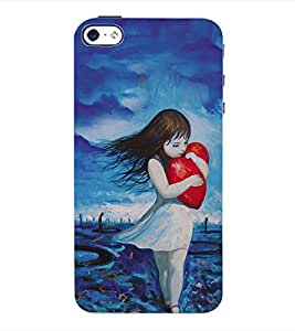 ColourCraft Love Back Case Cover for APPLE IPHONE 4