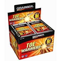 GRABBER ADHESIVE 6 HOUR TOE WARMERS - 40 PAIR BOX PLUS 1 BONUS PAIR by GRABBER WARMERS