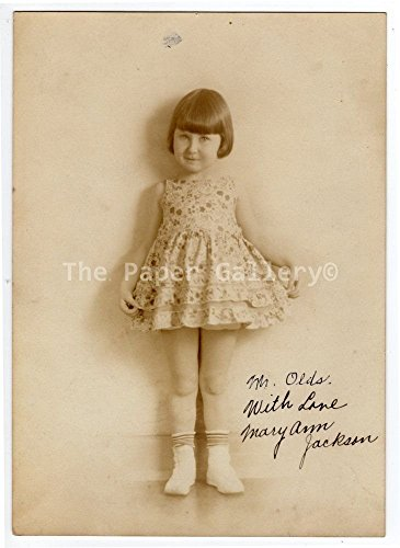 Autograph 5x7 Photograph of Mary Ann Jackson~95006