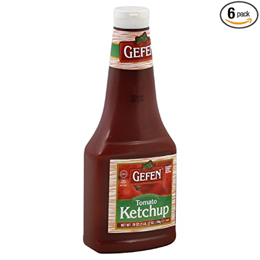 Gefen Ketchup, Tomato, Passover, 28-Ounce (Pack of 6)