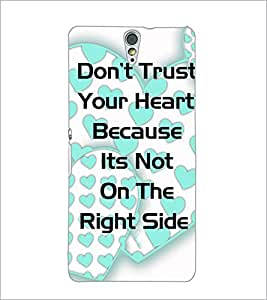PrintDhaba Quote D-4904 Back Case Cover for SONY XPERIA C5 ULTRA (Multi-Coloured)