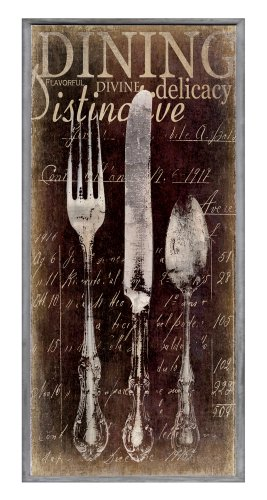 The Stupell Home Decor Collection Decor Collection Oversized Vintage Fork, Knife, Spoon Wall Plaque, Brown