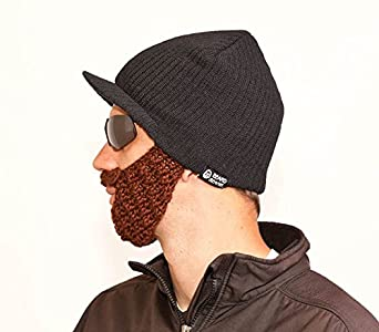The Original Beard Beanie - Black with Chocolate Brown Jeep Cap