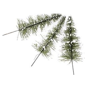 10pcs White Green Scenery Landscape Model Cedar Trees 11cm