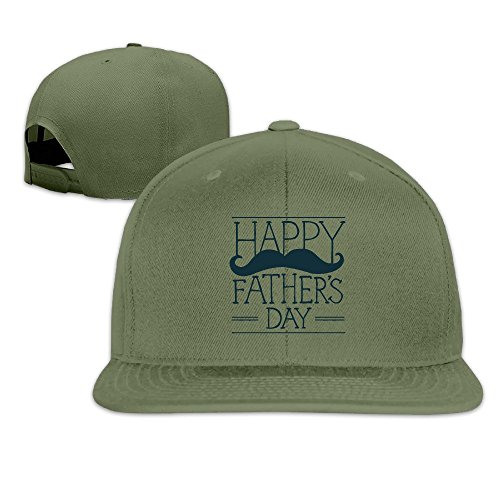 Custom Unisex-Adult Fathers Day Flat Brim Hip Hop Cap Hat ForestGreen (Kitchenaid Crockpot compare prices)