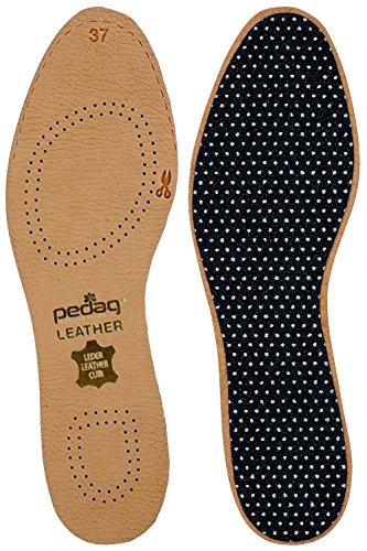 Pedag-172-Leather-Naturally-Tanned-Sheepskin-Insole-with-Activated-Carbon,-Tan,-US-W11/12-M8/9-EU-41/42