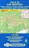 Pale di San Martino: Wanderkarte Tabacco 022. 1:25000 (Cartes Topograh)