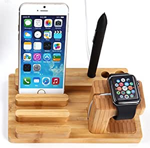 Ivso Apple Iphone 6 Plus Watch Charging Stand (Bamboo)