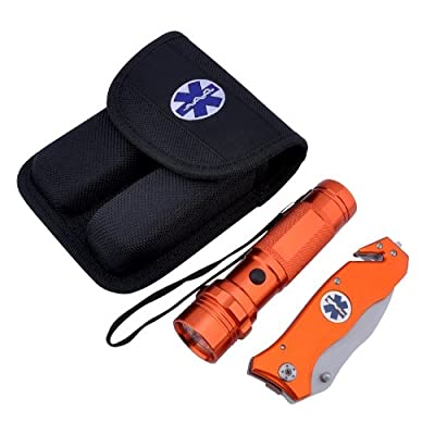 Emergency Rescue Knife and Flashlight Set by CKB Products Wholesale