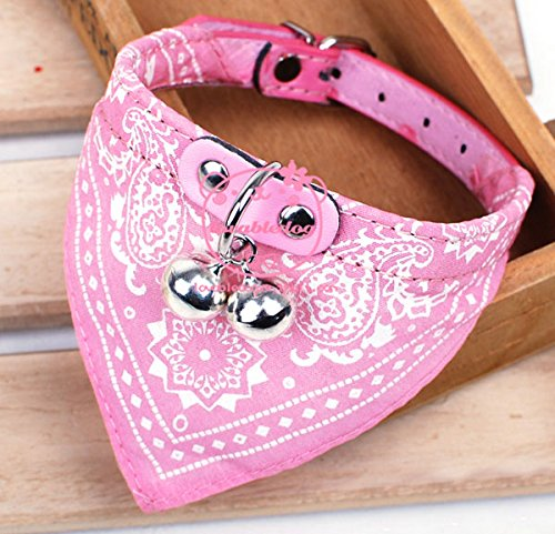 eSingyo Bandanas Adjustable Small Puppy Dogs Collars Fashion Pet Neckerchief Scarf Pink (5 Below Halloween Costumes)