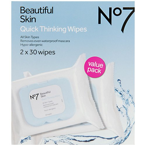 Boots No7 Quick Thinking Wipes - Value Pack (No 7 Quick Thinking Wipes compare prices)