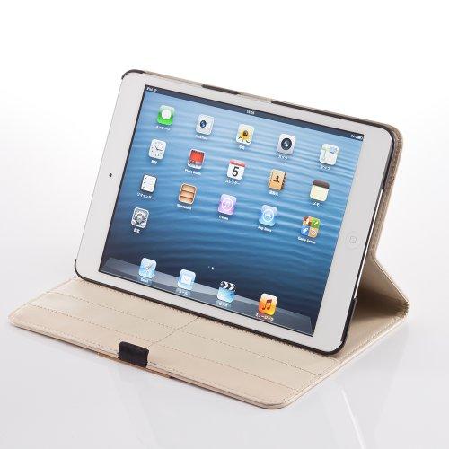 Simplism iPad mini スマートフリップシェル 可変スタンド機構付 ベージュ TR-SSIPDM12-BG