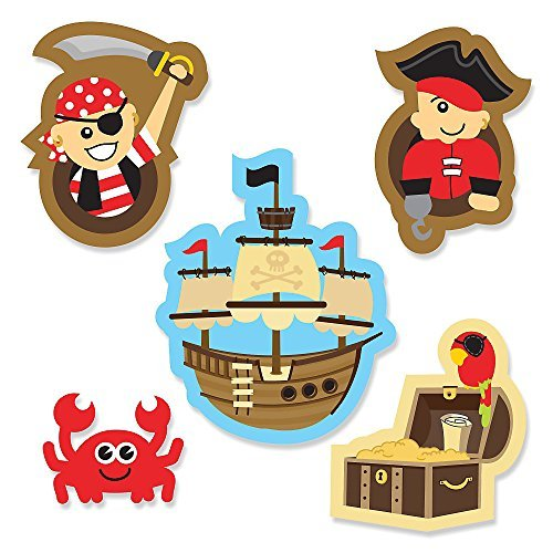 It's A-Boy Mates! Pirate - DIY Shaped Party Cut-Outs - 24 Count - 1