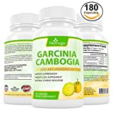 Natrogix 100% Pure Natural Garcinia Cambogia with 80% HCA (Hydroxycitric Acid) Complex All Natural Appetite Suppressant, Weight Loss Supplement Formula (180 Capsules)
