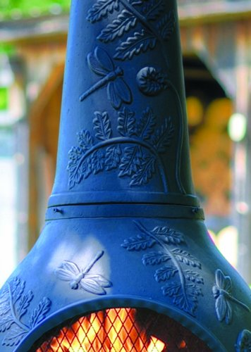 The-Blue-Rooster-Dragonfly-Chiminea-with-Gas-in-Charcoal