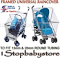 High Quality Framed Raincover Rain Cover for Pushchairs Buggy Strollers Prams by 1Stopbabystore