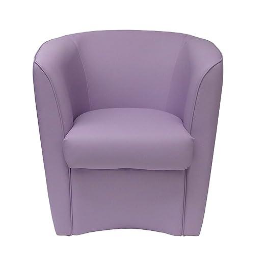Sessel Lila aus Kunstleder fur Kuche Esszimmer Buro Schlafzimmer Kinderzimmer