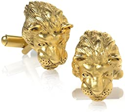 Father\'s Day Sale - Lion Head Cufflinks, 3 Dimensions, From Our Museum Store Collection