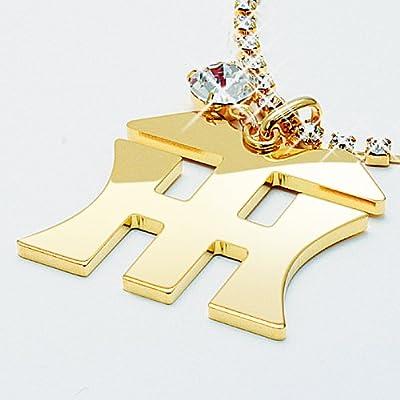 阪神タイガース 背番号クリスタルネックレス HanshinTigers HTモデル 限定色ゴールド