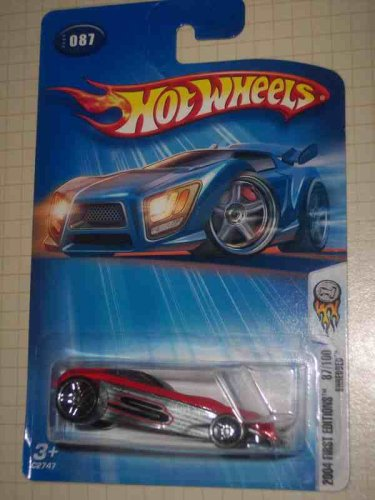 2004 - Mattel - Hot Wheels - First Editions - Shredded (Shredded Graphics) - Large Rear Wheels -Tinted Windows - Red - Collector #087 - New - Out of Production - Limited Edition - Collectible - 1