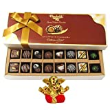 Chocholik Belgium Chocolates - 16pc Perfect Combo Of Taste And Charm With Small Ganesha Idol - Diwali Gifts