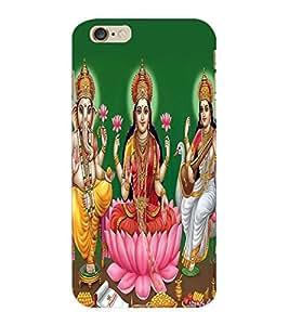 ColourCraft Lords Ganesha Maa Laxmi and Maa Saraswati Design Back Case Cover for APPLE IPHONE 6S PLUS