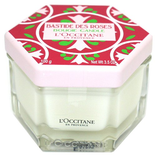 ロクシタン L'OCCITANE プロヴァンスホーム センティッドキャンドル 【ローズ】 100g [並行輸入品]